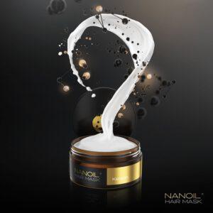 Odbudowująca maska do włosów Nanoil z keratyną